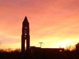 March 2015 Campus Sunset by faydescape