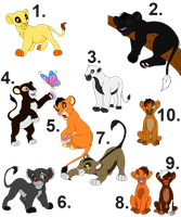 Lion Adoptables 3 points![all sold] by horse-power