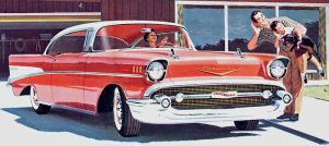 age of chrome and fins: 1957  Chevrolet by Peterhoff3
