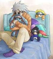 Kakashi Huggle Thanks for 10k by clingwrap