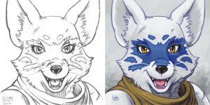 Daily Sketches Alopex by fedde
