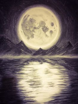 Moon and Lake by tiagoexp1