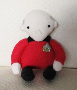 jean luc picard plushie by hellohappycrafts