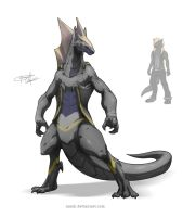 Dragon Xait (Anthro Form) by Namh