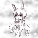 Chibi - Monochroming Sketch Commission by hase-illustration