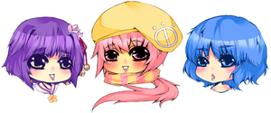 simple chibi heads by LeSpork