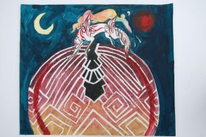 The Battle of Light and Dark by CelloTheCat