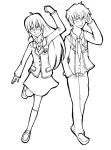 Kei and Hikari - line art by yui-lian