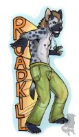 Roadkill Hyena by therealbloodhound