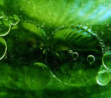 Green orbs by pqphotography