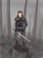 Warrior in the Forest of Death by yaku00