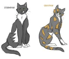 Stormpaw and Graypaw by Lithestep