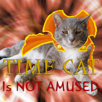 Time Cat is Not Amused by aquabluejay