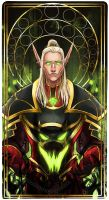 Commission WoW tarot card OC 4 by Ioana-Muresan