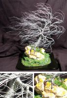 Coral Wind Swept - Wire Tree by SalVillano