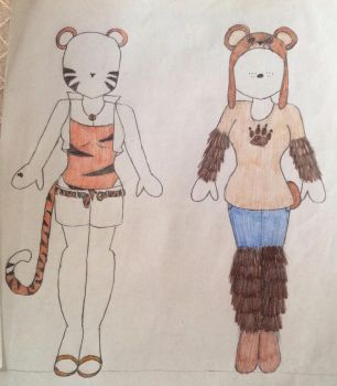 Animal Outfits 1 by areeta9