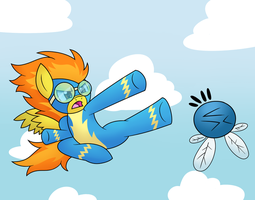 Flying kick! by wildberry-poptart