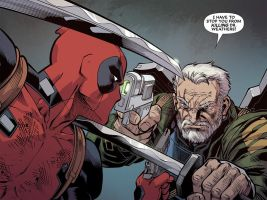 Deadpool and Cable by ReillyBrown