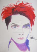 Gerard Way...in Technicolour by CarlaIsInspired