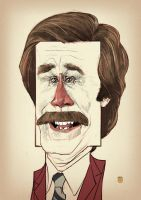 RON BURGUNDY by solitarium