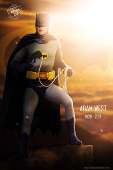 Adam West R.I.P. by Bryanzap