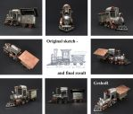 Toy Train - silver and copper by GeshaR
