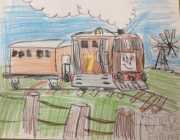 Toby the Tram engine by WolfGang-Jake