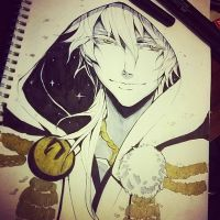 Inktober day 2 - Tsurumaru Kuninaga by tatouji