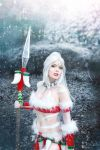 They will fear the wild - Snow Bunny Nidalee Cos by TineMarieRiis