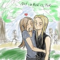 Not in publics, Toki.. by janu