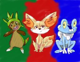 The Official 6th Generation Starters! by SuperArtNinja