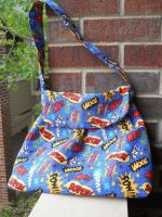 Comic Book Panel Cotton Purse by QuixoticExoticism