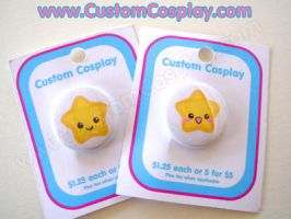 Yellow Star buttons by The-Cute-Storm