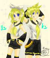 Happy birthday Kagamine rin and len~! by Eemapso