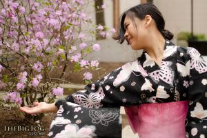 Yukata: Almost Cherry Blossoms! by midsummerkiss