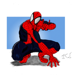 spiderman colored by comic-eeb