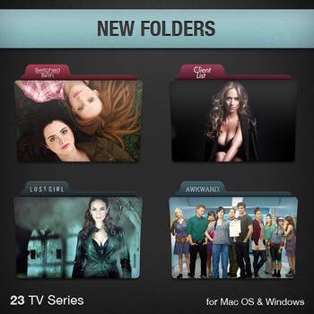 New TV Series Folders by paulodelvalle