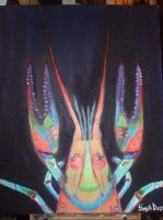 Psychedelic crawfish by beautyfromlight
