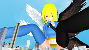 MMD - Luna watching over the City! by kjl03