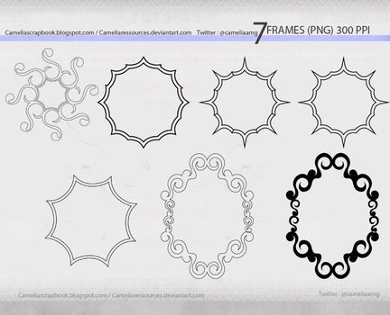 frames 300ppi png by cameliaRessources