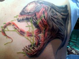 venom tattoo Done by AlfredoP