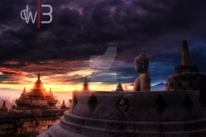 Sunrise Borobudur by kurowo