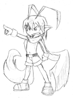 Quick Sketch: Laharl by Comic-Ray