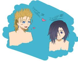 Demyx and Zexion by Vampirechic1612