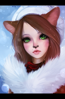 .: White Fluff :. by JuliaTheDragonCat