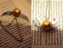 HP Golden Snitch Pendants by DocileGloom