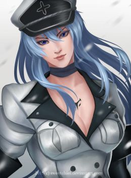 Esdeath by SweetChiel