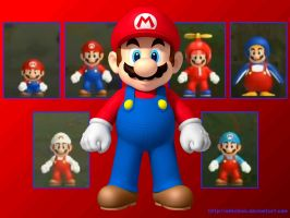 NSMBW Mario Wallpaper by N64chick