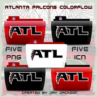 Atlanta Falcons ATL Colorflow by JayJaxon