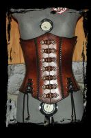 lether corset steampunk by Lagueuse